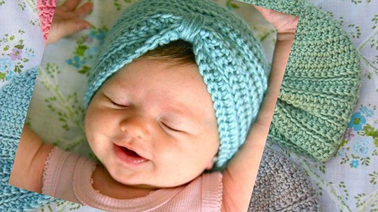 Tutorial: http://thismamamakesstuff.com/crochet-baby-turban-pattern-tutorial/ ------------------------------------------------------ crochet baby turban head...