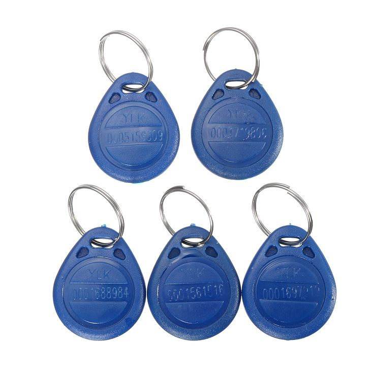 Features:      Water resistant.  Each comes with Key ring included.  Compatible with all RFID reader to gain access.  Each token pre-programmed with unique ID which is Laser printing on it.  TK4100 chip is read, that is, it can not be recorded.  Code: 64Bit.  Resonance Frequency: 125KHz.      Specification:      Material: ABS  Dimension: 85.5 x 54 x 2mm  Response frequency: 125 KHz,  Chip type: TK4100  Operation Temperature: -10~+50℃  Application scope: public transportation…