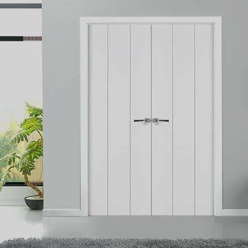 The prefinished Sanrafael Lifestyle 9021 Double Door has a simple but gorgeous flush design. #directdoors #sanrafaeldoors