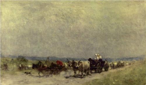 Returning from the fair - Nicolae Grigorescu