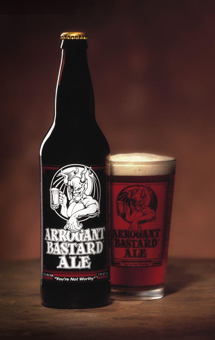 Arrogant Bastard Ale Beer. I forgot about this. I miss it :(