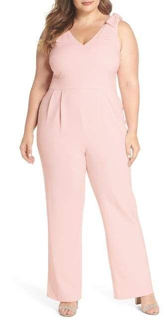 3e48d5dd8ff7 Chelsea28 Bow Shoulder Jumpsuit (Plus Size) in 2019