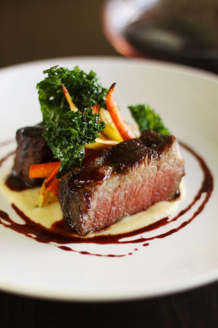 Braised Beef Short Ribs, root vegetables, red wine ...