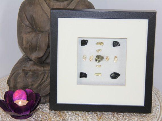 Crystal Grid ABUNDANT Pyrite Citrine Black by GoddessWellness