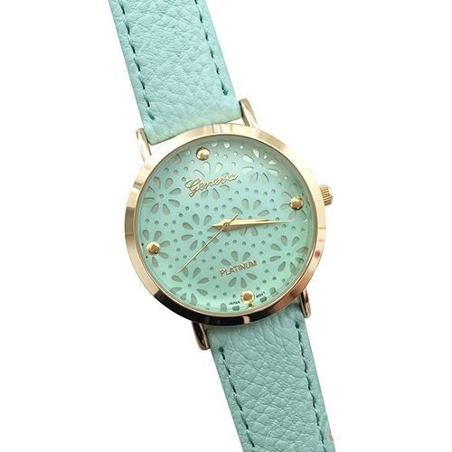 fashion ladies wrist dress gaiety simple leather green mint item watches bracelet macaron women sport brand watch