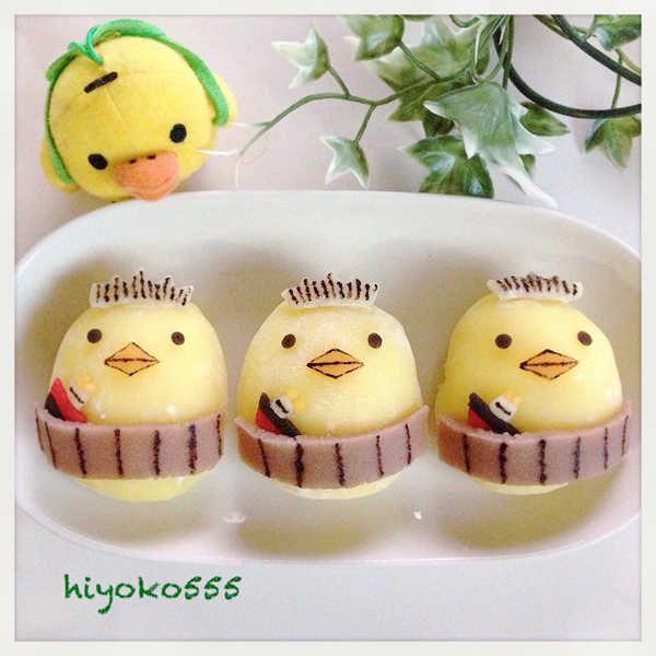 バリィさんコラボ☆もっちりカスタード大福♥ Dessert