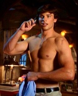 """tom welling."" thats all i gotta say.  ""Somebody save...! me....! what a man."