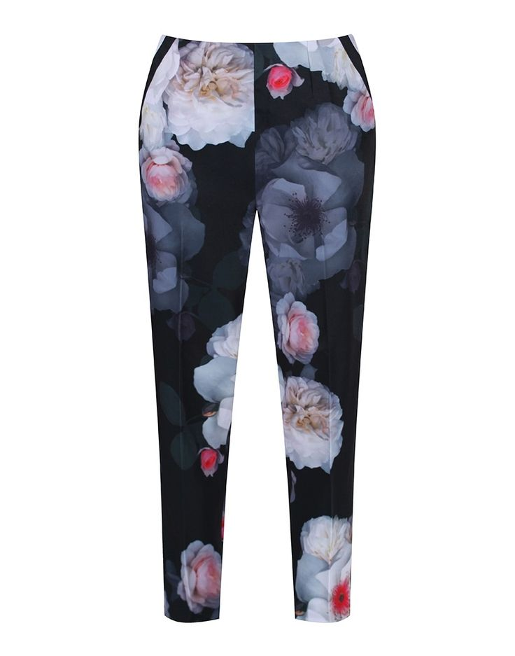 The classic Ted Baker floral print on these women's trousers makes them a must-have this season. Spring/Summer 2017.
