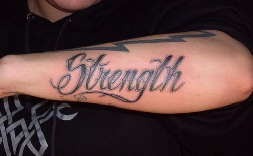 Arm Strength Tattoo Designs ~ http://tattooeve.com/get-the-strength-tattoos-designs/ Tattoo Design