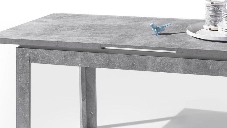 esstisch stone esszimmer tisch beton grau und weiß hochglanz 140,