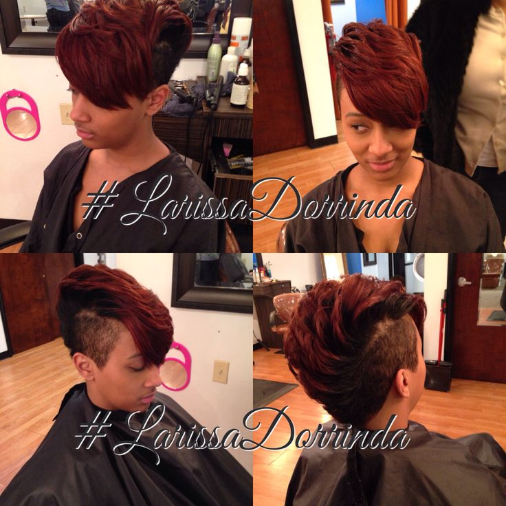 Mohawk red hair short cut by Larissa Dorrinda 4122814155