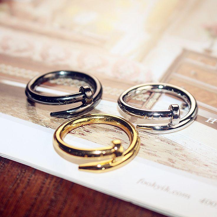 Korean fashion temperament nail ring Korea star boys lady jewelry personality trendsetter couple ring