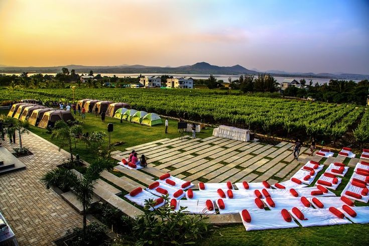 If you have a different personality, you can surely go to #Nasik for your wedding. A visual treat for all, it has acres of lush lawns where you always feel a pleasant breeze. The best place for spring weddings; this is really a special place. #weddingdestinations