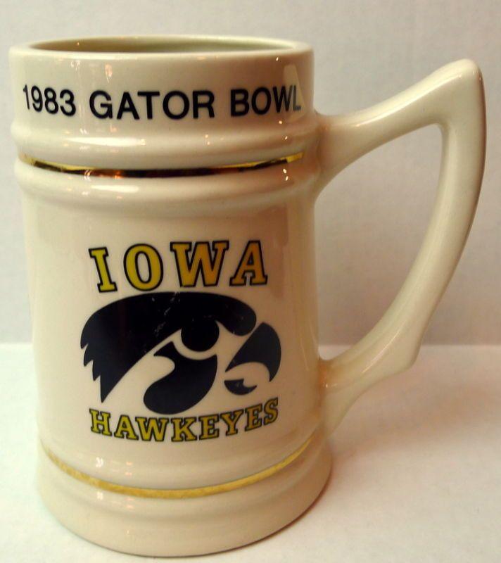 1983 Gator Bowl Iowa Hawkeyes Florida Gators Stein #LewisBrothers #CollegiateFootball