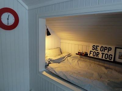innebygd seng..