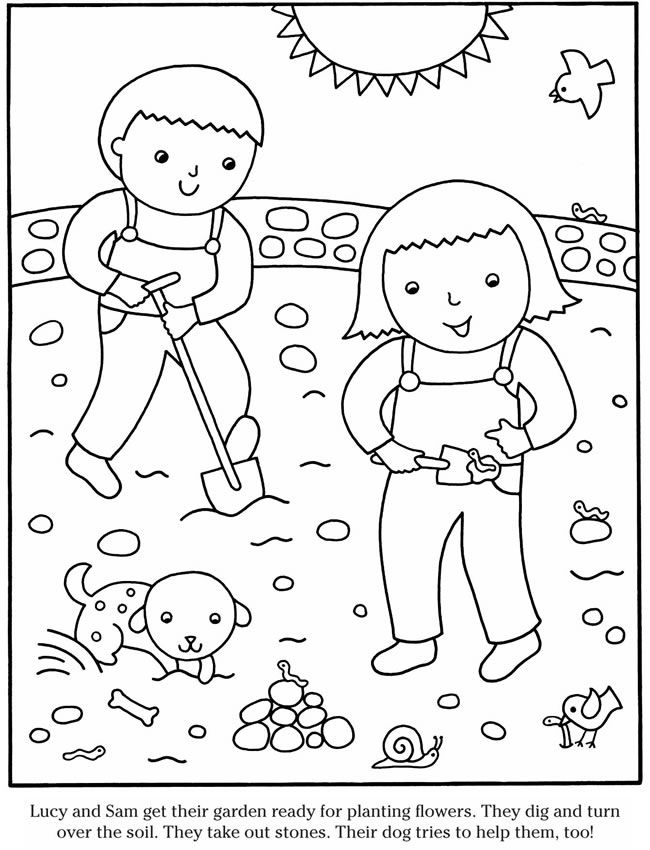 57 best images about tavaszi sz nez k on pinterest for Spring garden coloring pages