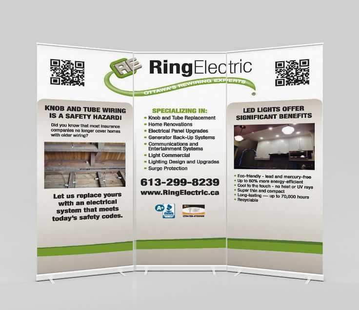 Rollup-banner for Ring Electric