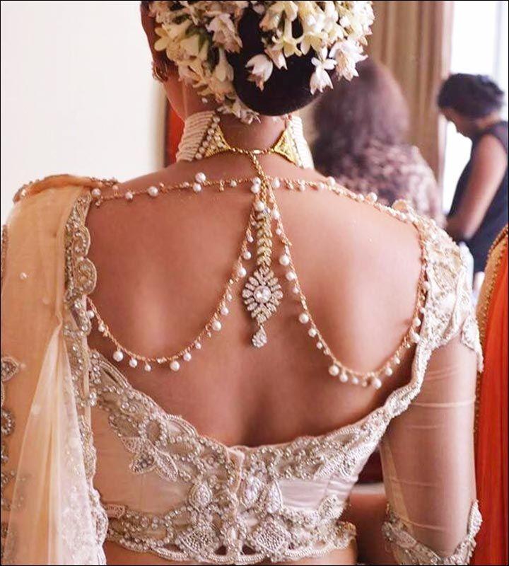 Blouse Back Neck Designs - Bejeweled Back Neck Design