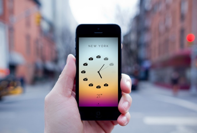 nice Climate Clock App by Ben Wong: Simple Weather App for iPhone