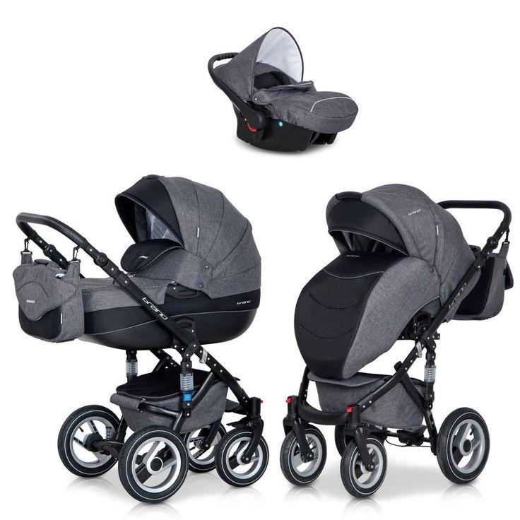 Riko 3in1 Kombi Kinderwagen Brano Grau Babywanne Buggy Auto Babyschale 0-10 kg | Baby, Kinderwagen & Zubehör, Kinderwagen | eBay!