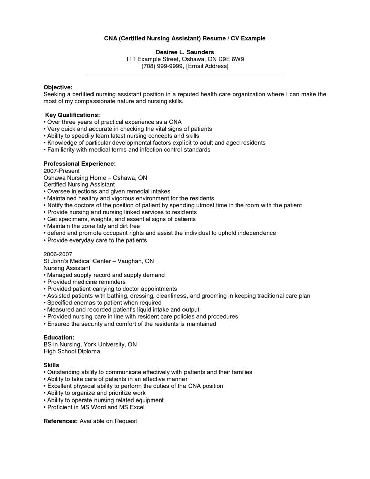nursing assistant resume cna resume samples best business