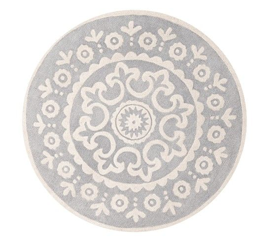 Round Rugs Are Great For Dividing A E Mckenna Rug 5x5 On Pottery Barn Rugpottery Kidsentry