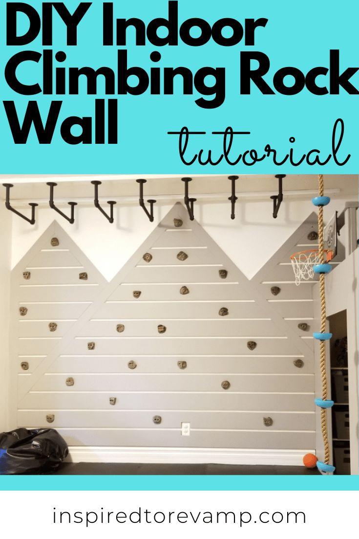 Diy indoor rock climbing wall inspired to revamp in 2020