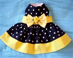 Polka Dot Banded Harness Dress