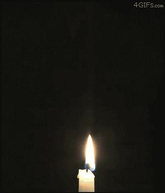 Candle being lit by vapor trail, and other cool science gifs.