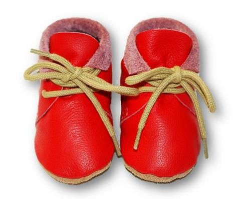 mokasynki CZERWIEŃ Leather Baby Shoes Moccassins Red https://fiorino.eu/