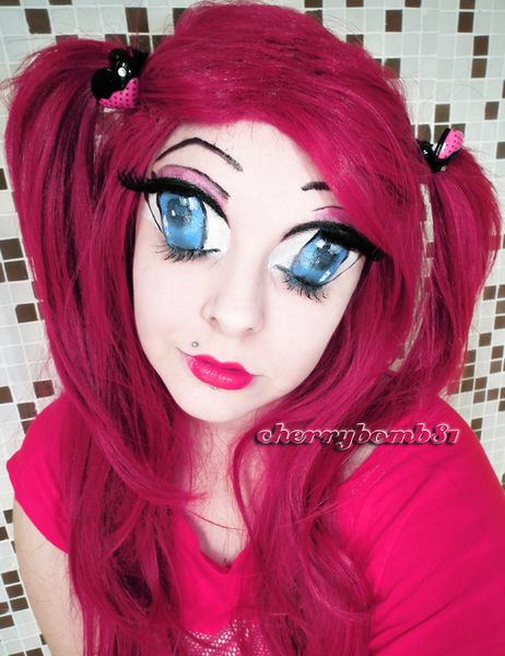 creepy rag doll makeup closed eyes | Anime Manga Big Eyes ...