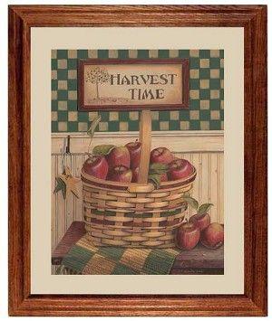 Harvest Time Apple Country Kitchen Decor Art Print Framed