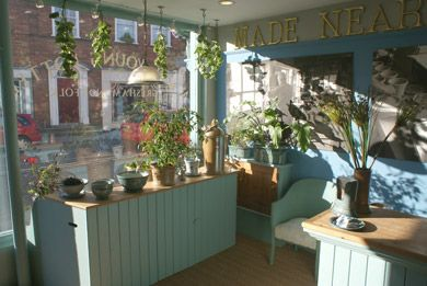 The A J Young Pottery shop in Holt, Norfolk http://www.youngpottery.co.uk/