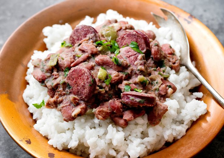 Every Monday, you can find a pot of red beans and rice cooking in someone's kitchen in New Orleans The food writer and New Orleans bon vivant Pableaux Johnson's house is no exception The dish, an easy meal from when people used to reserve Monday to do the wash, was once made with the pork bone left over from Sunday supper