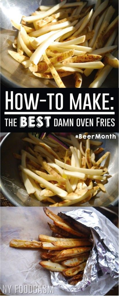 How to make the perfect oven baked fries -a healthy recipe makeover for dinner #BeerMonth - NY Foodgasm