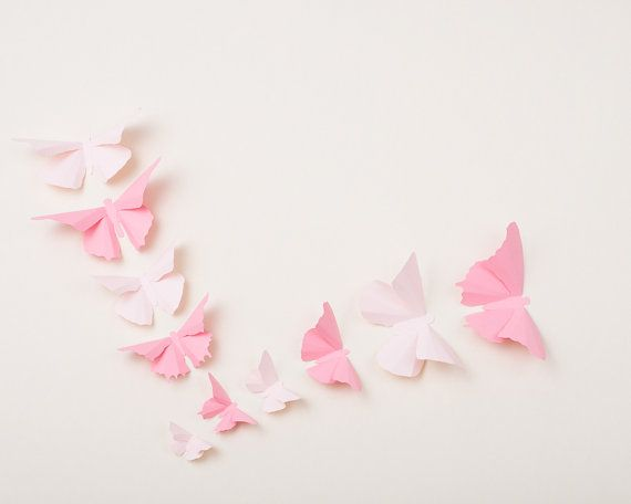 3D Wall Butterflies Butterfly Wall Art for by hipandclavicle, $23.00