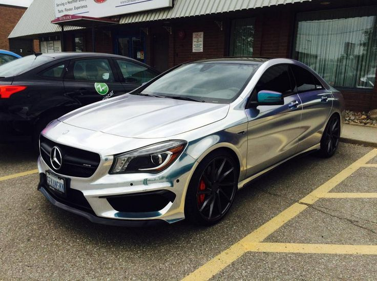 Mercedes Benz Cla250 Chrome Wrap With Black Accents