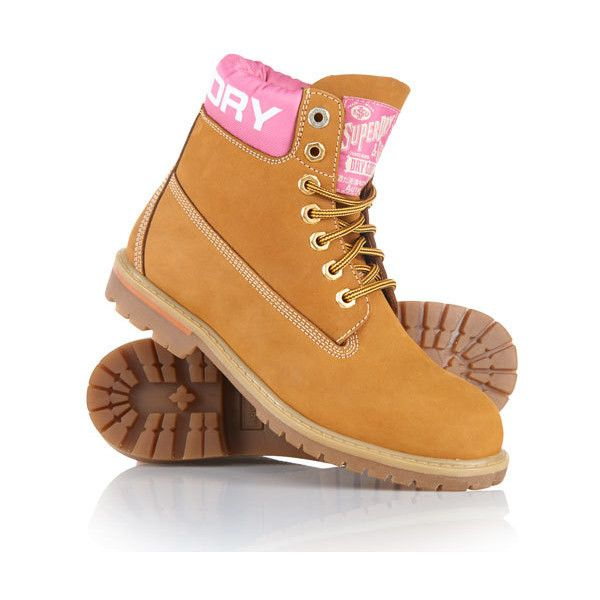 Superdry Sentinel Boots ($129) ❤ liked on Polyvore featuring shoes, boots, beige, superdry shoes, leather footwear, real leather shoes, genuine leather shoes and beige leather boots