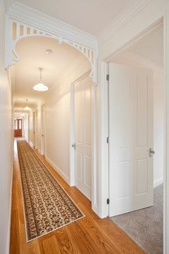 arch hallway fretwork Home Design Photos