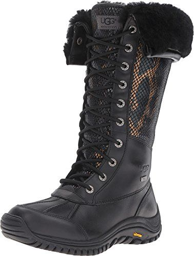 UGG Adirondack Tall Exotic Velvet Black Womens Pullon Boots *** Learn more by visiting the image link.(This is an Amazon affiliate link)