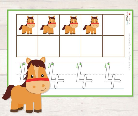 Free Printable On the Farm 10 Frame Trace from Busy Little Bugs
