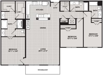 Floorplans C2 3 BEDROOM 3 BATH