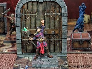 Heroes in action - Dungeon Saga painted miniatures ~ Enionline Alternative Worlds  #28mm #dungeondsaga #dungoensanddragon #d&d #miniature #heroes #painting #fantasy #boardgame #danor #mago #mage