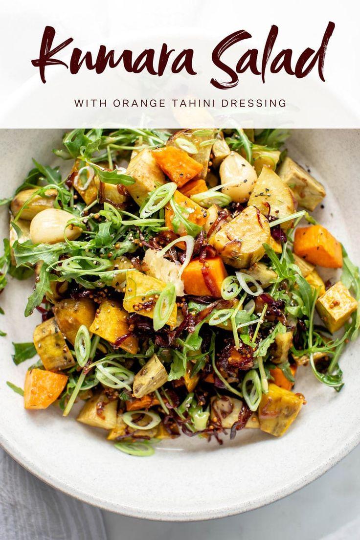 Kumara Salad with an Orange Tahini Dressing - kumara are ...