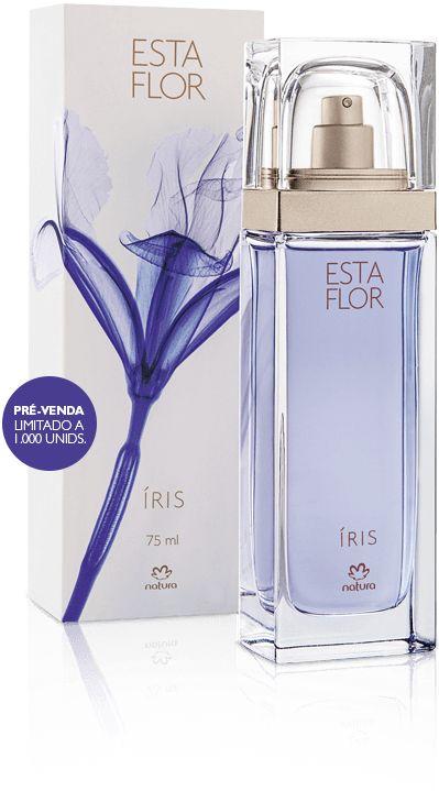 Esta Flor - Íris é lançamento da Rede Natura. Perfume delicioso e suave. Nessa fragrância monotema, a Íris é a protagonista e todos os outros ingredientes foram criteriosamente escolhidos para dar a melhor performance à flor.