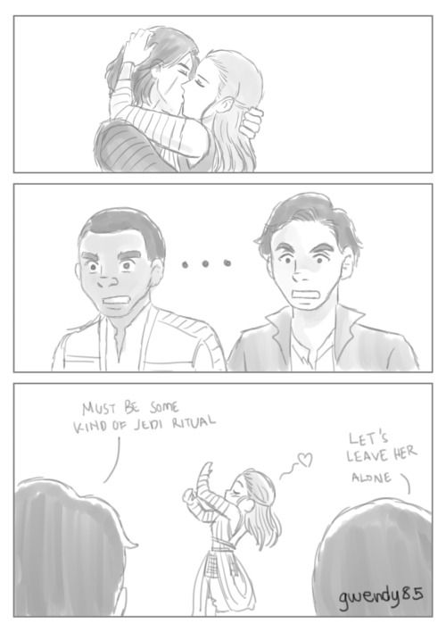 """But seriously all I want is some some force bond stuff with other people around being like """"rey/kylo who the fuck are you talking to"""""""