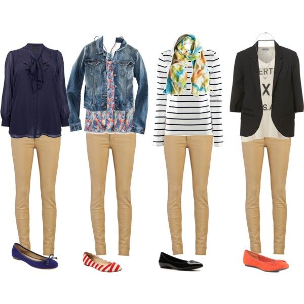 A fashion look from April 2012 featuring navy blue shirt, button shirt and racer back tank. Browse and shop related looks.