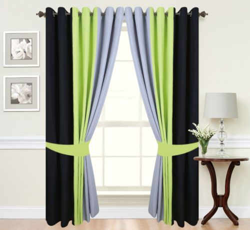 Green Curtains black and green curtains : 17 best ideas about Green Eyelet Curtains on Pinterest | Curtain ...