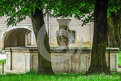 Stone fountain in old palace.