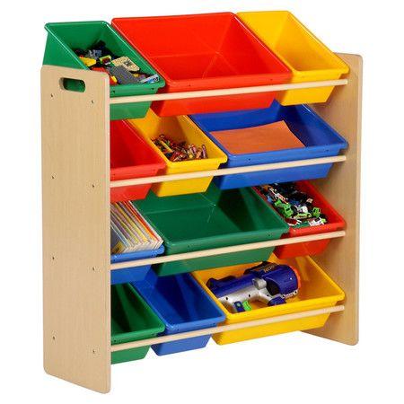 Four-tier organizer with twelve storage bins.  Product: Toy organizerConstruction Material: PlasticC...